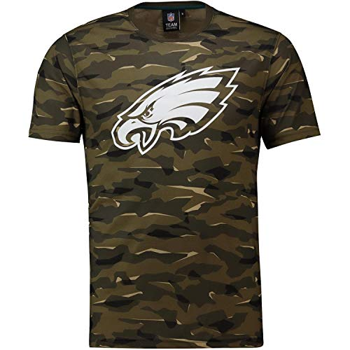 Majestic Athletic NFL Football T-Shirt Philadelphia Eagles Logo Tee T Camo Camouflage (M) -