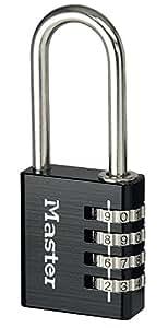 Master Lock Padlock, Set Your Own Combination Lock, 4-Digit Combination Lock, Black, Best Used for Indoor Storage Lockers, School Lockers and More