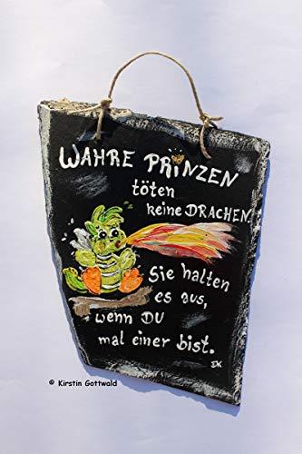 Schiefermalerei/Schild aus Naturmaterial/liebevolle Handarbeit