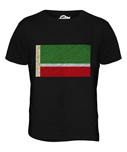 CandyMix Tschetschenien Kritzelte Flagge Herren T Shirt Schwarz