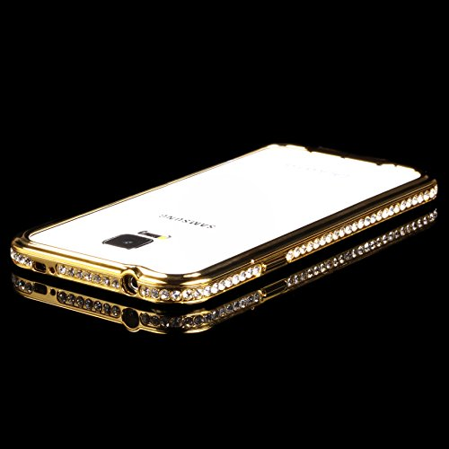 URCOVER® Cadre de Métal Glittery en Aluminium - Coque Strass Scintillantes | Apple iPhone 6 | Metal - ALU in Cuivre-or | Housse Case Cover Pailleté Faux Diamant Or