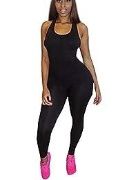 Legging Casual Overdose Femmes Noir Jumpsuits Ensembles Combinaison Sport de Skinny Soldes Sport Vêtements Débardeur 7RCfqznxw