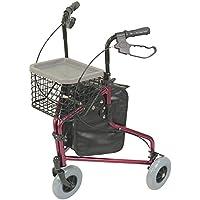 Aidapt Tri Walker-Deambulatore a 3 ruote, in alluminio, colore: