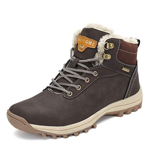 Pastaza Scarpe da Trekking Uomo Donna Stivali da Escursionismo Invernali Impermeabile Outdoor Sneakers,Marrone,43EU