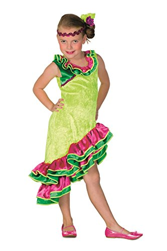 (L3100770-116 Kinder Flamenco Kostüm Karibienkleid Mädchen Gr. 116)