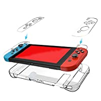 Tenthree Protective Case Cover - TPU Clear Cover Case for Nintendo Switch and Switch Joy-Con Controller (Thin Transparent)