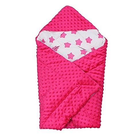 Baby Einschlagdecke für Babyschale Babydecke zum Einwickeln Wickeldecke Babyhörnchen Winter