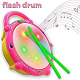 Zuffon High Quality Flash Drum With 3D Lights And Musical Toys For Kids ( Toys For 2 Year Old Boy And Girl )