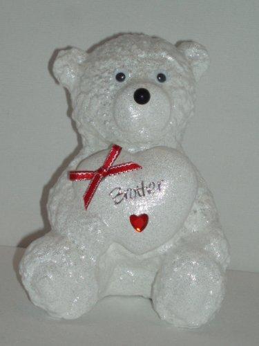 Brother Rodelschlitten Snow Außenleuchte Bead Memorial Ornament Teddy Bär (roter aktuelles Trendthema) Trauerkarte