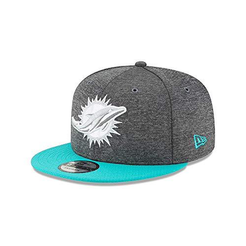 New Era Miami Dolphins 9fifty Snapback NFL 2018 Sideline Home Graphite Graphite - M - L
