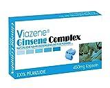 Viazene Ginseng Complex 10 Kapseln für Männer - Ultra starke Kräuterergänzungen - Bester natürlicher Testosteron-Booster für aktive Männer - Plus 1 Packung Viazene Wipe FREE!