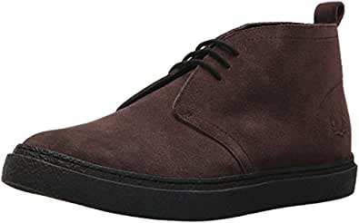 Fred Perry Men's Hawley MID Suede Sneaker Dark Chocolate 10 D UK (11 US)