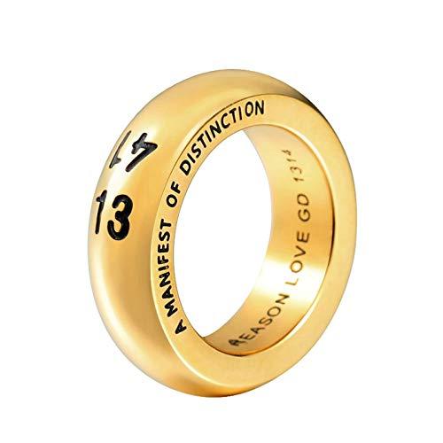Blisfille Ringe Männer Gold Herren Ringe Herr Der Ringe Ring Aufgezeichnet 13 14 Ring Nummer Silber Gr. 67 (21.3)