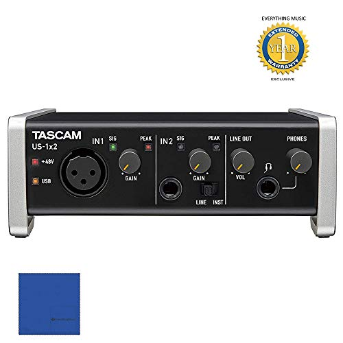 Tascam US-1X2 1-in / 2-out USB Audio & MIDI Interface