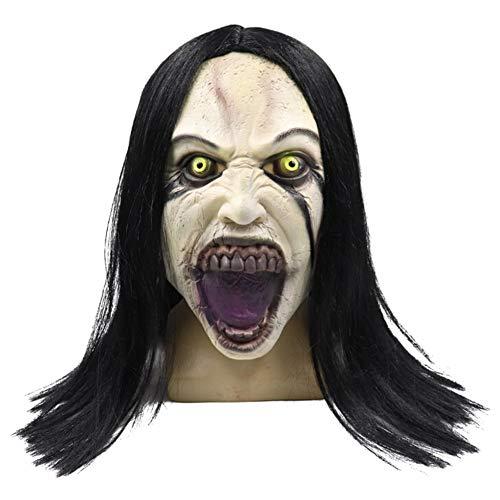 Face Kostüm Muster Ghost - WZMHBMJ Neuartiges Lustiges Spielzeug Für Halloween Cosplay Kostüm Props Perücke Female Ghost Style Maske Melting Face Adult Latex Kostüm Halloween Scary