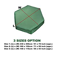 dDanke Green 90% UV-Anti Dust Protection Outdoor Garden Hexagonal Wooden Sand Box Sand Pit Cover Tarpaulin
