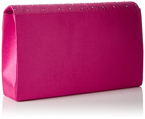 SwankySwansAbby Diamante Envelope Style Bag - Sacchetto donna Pink (Rose)