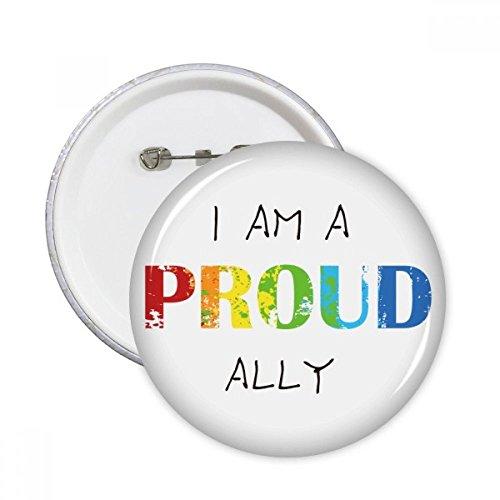 Bandera del arco iris orgullo lgbt aliado clavijas redondas insignia botón ropa decoración regalo 5pcs