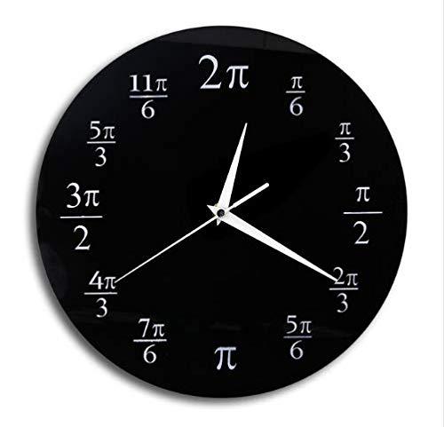 56c1c27b1107 Yanshu Reloj de Pared de Vinilo Aula matemática Decoración de la Pared  Acrílico Negro Decoración del