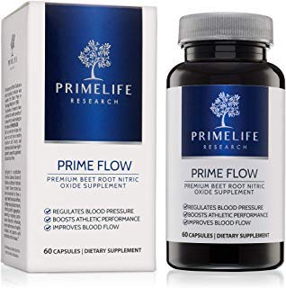 Beet Root Nitric Oxide Supplement - Prime Flow | Daily Dietary Nitrate Supplement | Lower Blood Pressure Naturally | Improve Heart Health | Increase Blood Flow and Circulation from PrimeLife Research