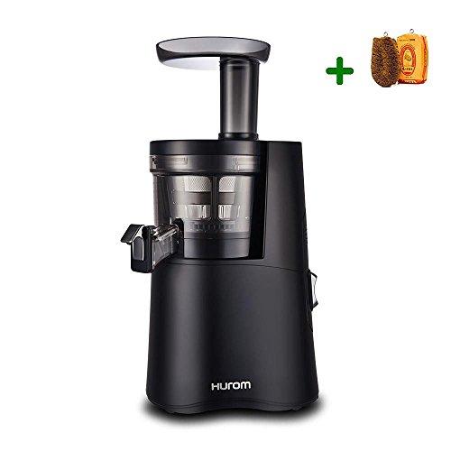 Extractor de zumos Hurom H-AA Alpha (Tercera generación) + Filtros de Smoothies y Sorbetes e Cepillo para verduras (Negro)