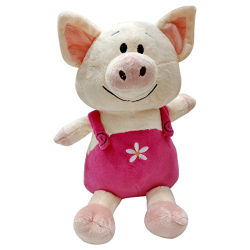 My Baby Excels Pig with Dungaree Plush | Imported Premium Quality | Soft Toy for Kids of Age 1 Year and Above | Pink Colour | Size 29 cm