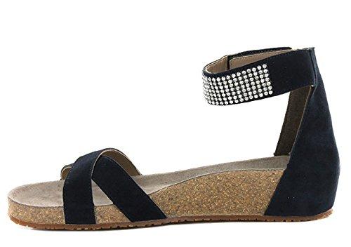 Mephisto con Cinturino Dietro La Caviglia Donna Navy