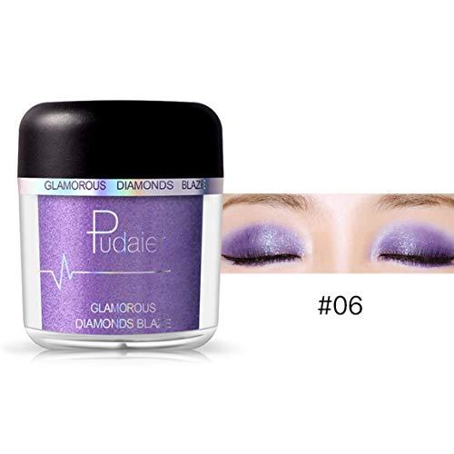 fghfhfgjdfj Pudaier Natural High Pearl Pigment Puder Frauen Make-up Lidschatten Langlebige wasserdichte Lidschatten-Palette Glitter -