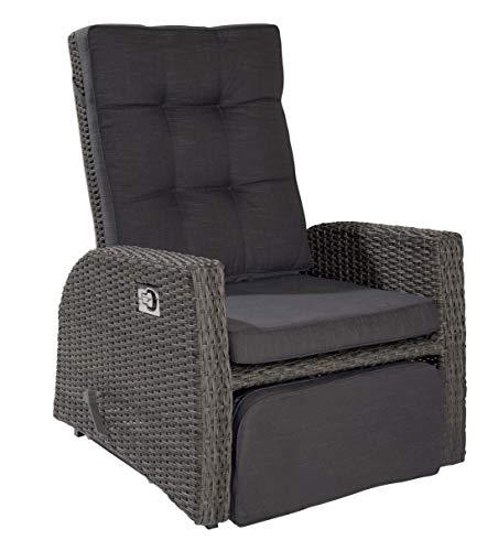 XL Rocking Gartensessel Sessel VIP Barcelona grau mix für die Terrasse oder den Garten -...