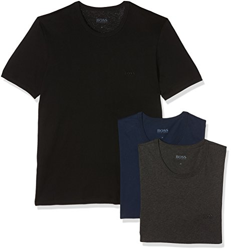 Hugo Boss Herren T-Shirt, 3er Pack Blau (Open Blue 497)
