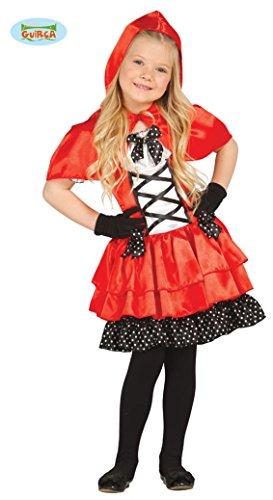 Rosso Cappuccetto Kostüm - Guirca Rotkäppchen Kleid für Mädchen in Gr. 98-146, Größe:110/116