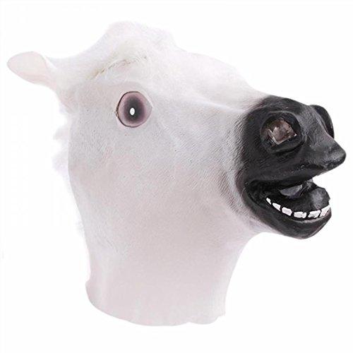 Pferd Kopf Maske für Halloween Party (weiß) ()