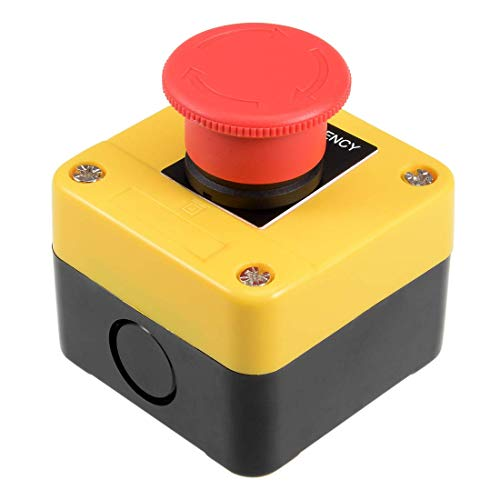 ZCHXD Emergency Stop Plastic Box Cover Push Button Switch Self Locking 660V 10A Push-button Switch-box
