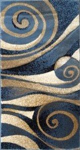 Nikos Masada Teppiche, Modernes Bereich Teppich, Braun Beige Grau Schwarz Rot Burgund Multi Farben Modern (2 Feet X 3 Feet 8 inch) Mat Blau -