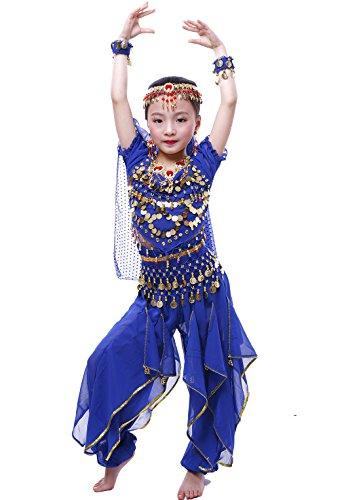 Kostüm Bauchtänzerin Saphir - Mädchen Halloween Bauchtanz Kostüm Anzug Saphir L