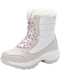 ABCone Stivali Invernali Donna Impermeabili Stivaletti Scarpe da Lavoro  Peluche da Lavoro Stivali da Neve alla 0070dc0bb18