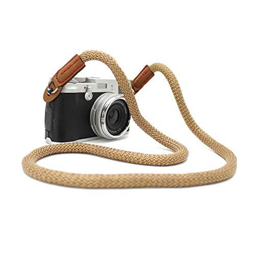 Syndecho - Correa para cámara de Fotos (Hecha a Mano, algodón Suave), diseño de Leica Canon, Nikon, Fuji Olympus