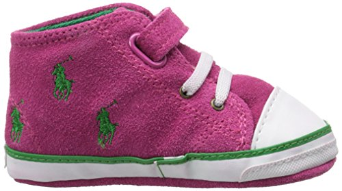 Polo Ralph Lauren Polo Bal Harbour Cap Toe Layette Pink Suede Soft Soles pink