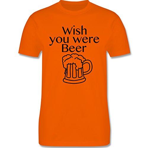 Oktoberfest Herren - Wish you were Beer Bierkrug - Herren Premium T-Shirt Orange