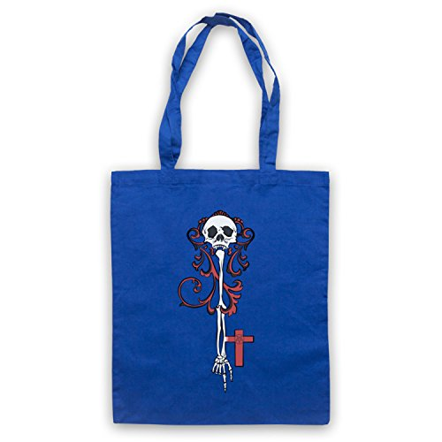 Skeleton Key Gothic Illustration Umhangetaschen Blau