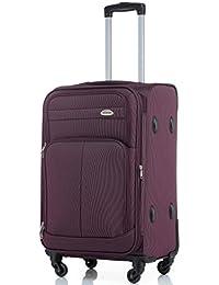 BEIBYE 4 Rollen Reisekoffer 3tlg.Stoffkoffer Gepäck Koffer Trolley SET-XL-L-M in 7 Farben