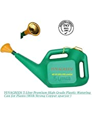 YUVAGREEN Sky Bird 5-Liter Premium High-Grade Plastic Watering Can for Plants (With Strong Copper sparyer )
