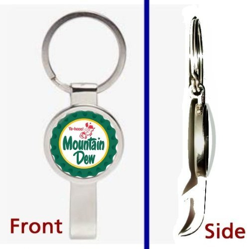 retro-classic-mt-dew-mountain-man-yaa-hoo-logo-pennant-or-keychain-silver-tone-secret-bottle-opener-