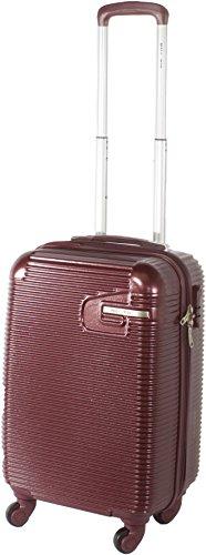 Flymax Premium Hartschale Gepäck Leicht 8Rad Koffer Spinner Rot burgunderrot 20