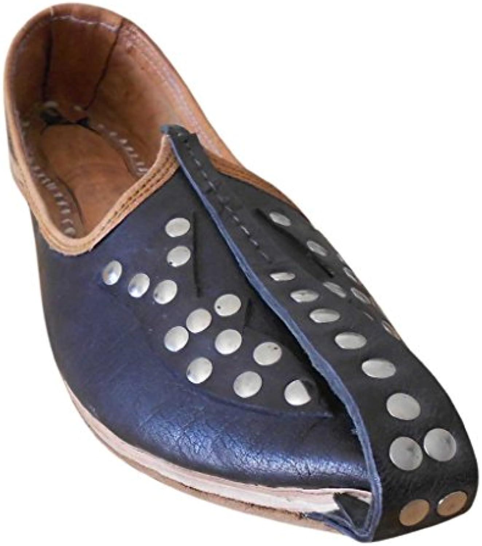 Kalra Creations - Zapatillas de estar por casa de piel auténtica para hombre