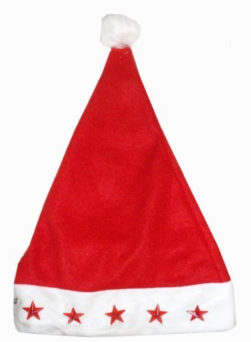 Christmas Time Light Up Santa Hat with stars by Christmas Time