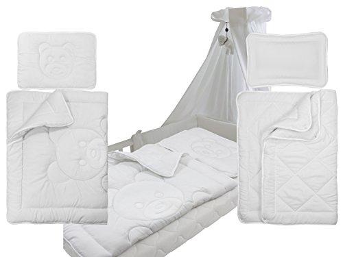 Kinderbettensets - 4-Jahreszeiten oder mit Teddysteppung - Bettdecke ca. 100 x 135 cm + Kopfkissen...