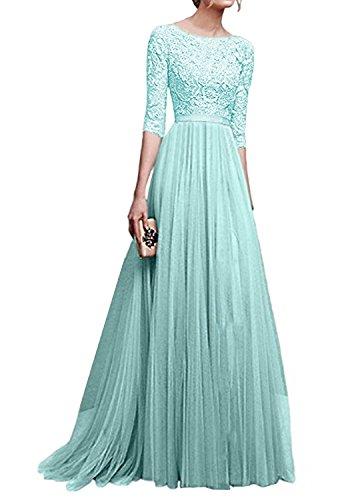 Minetom Damen Elegant Chiffon Lang Kleid Abendkleider Partykleider Festkleider Brautjungfer...