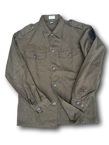 Austria ejército Issue Vintage para hombre camisa de campo, verde, XL