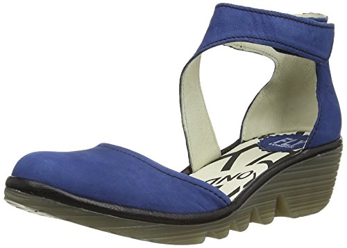 Fly London Piat, Damen Pumps, Blue (Blue/Black), EU 37